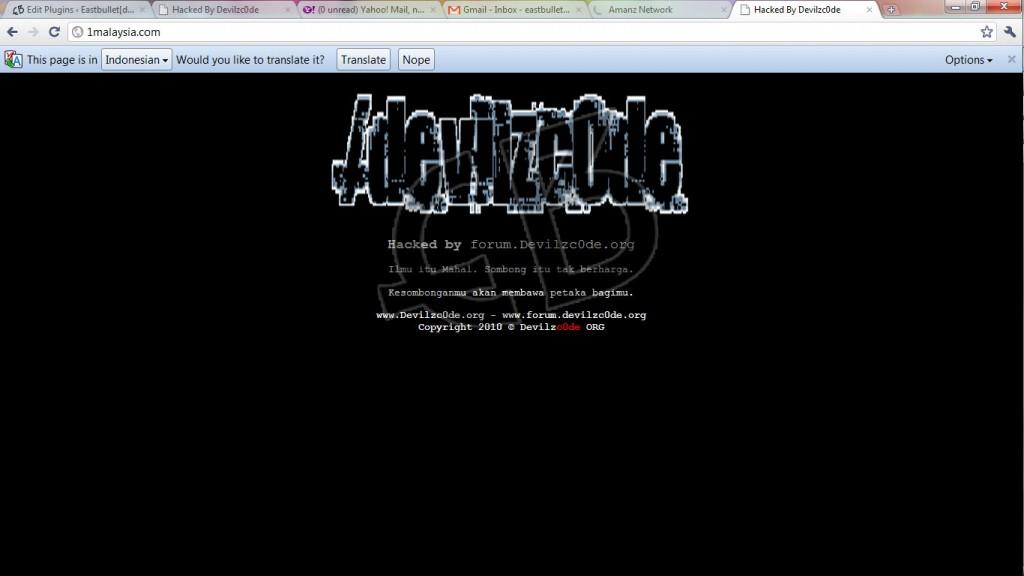 1malaysia kene hacked