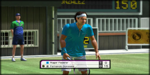 virtual tennis game