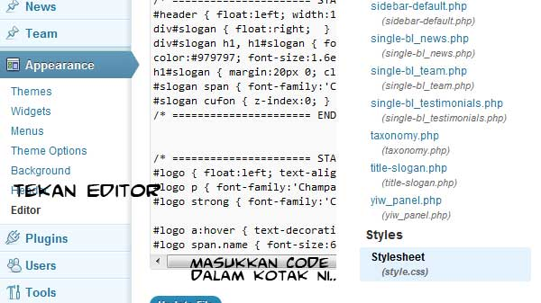 tutorial tulisan bergerak dan widget terapung
