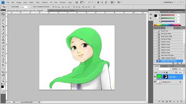 tutorial ubah warna gambar