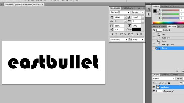tutorial text photoshop
