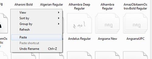 tutorial install dan gunakan font