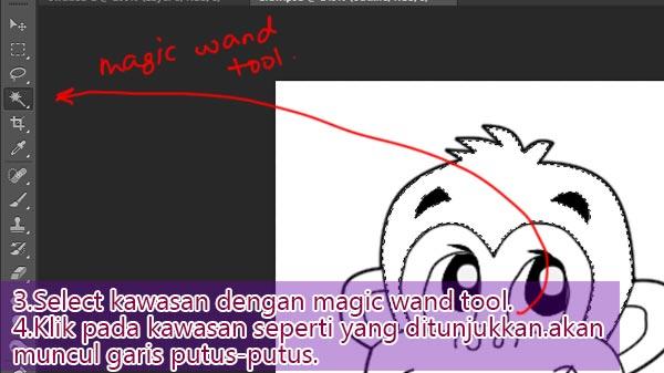 tutorial mewarna lukisan