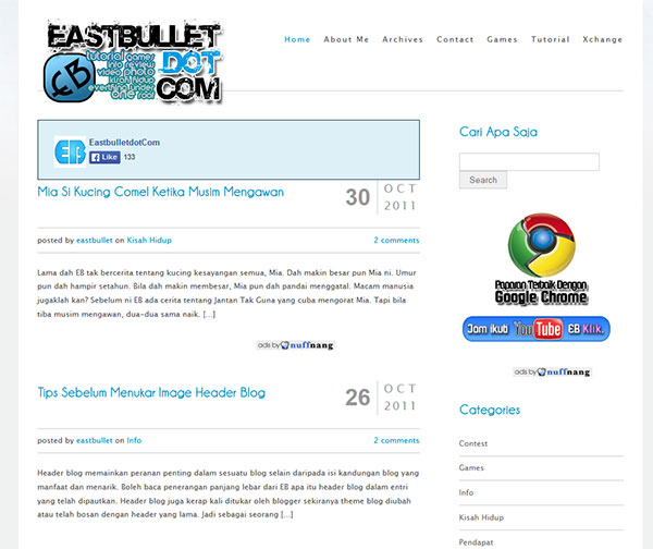 new responsive blog theme
