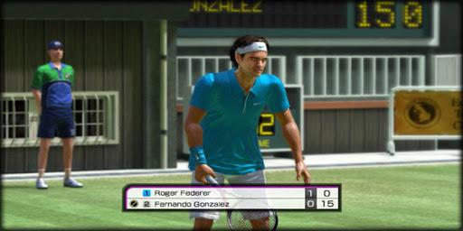 virtual tennis game